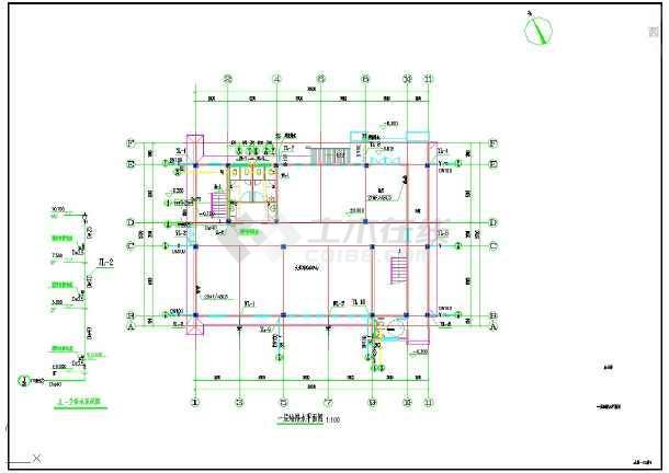 点击查看西院老年公寓施工图给排水第1张大图
