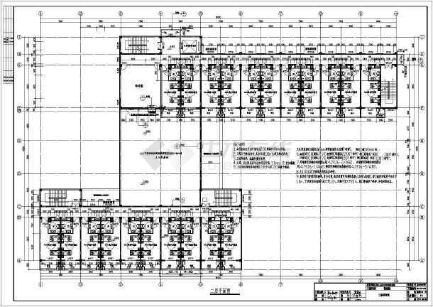 点击查看霍邱县单龙寺敬老院建筑施工图第2张大图