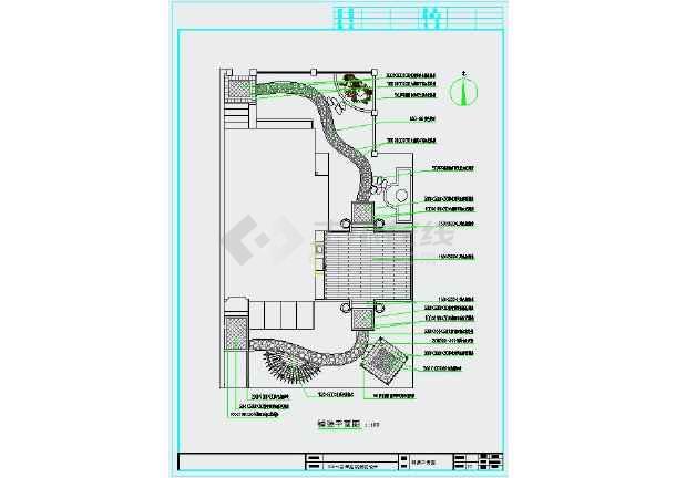 点击查看别墅庭院景观设计全套施工图第2张大图