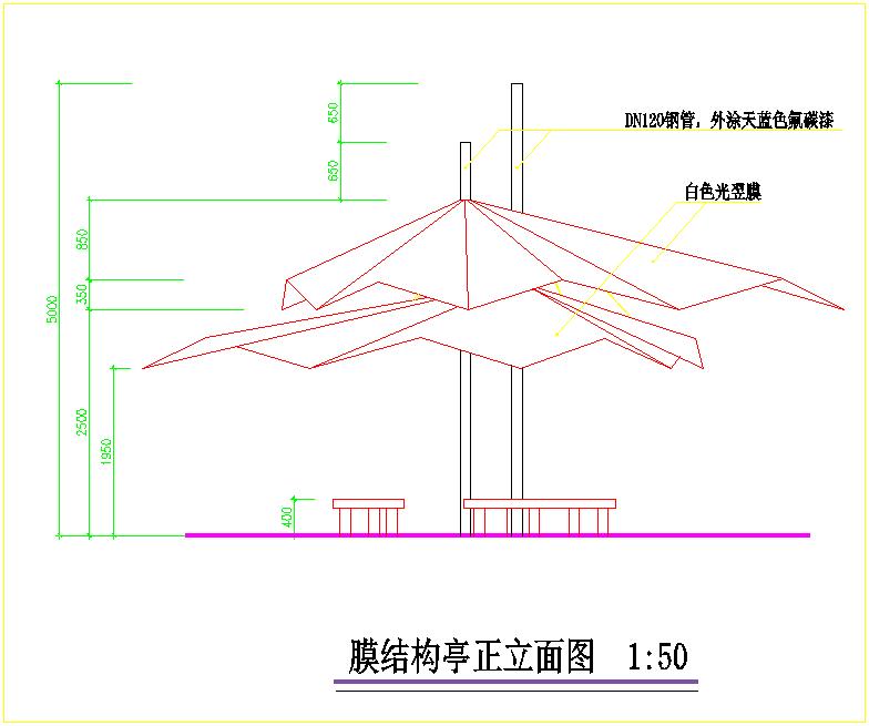 [杭州]某滨水河道局部园林工程施工图图片2