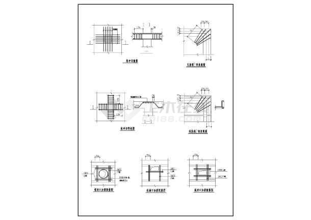 框架结构板的构造节点大样图纸(共6张图纸)-图二