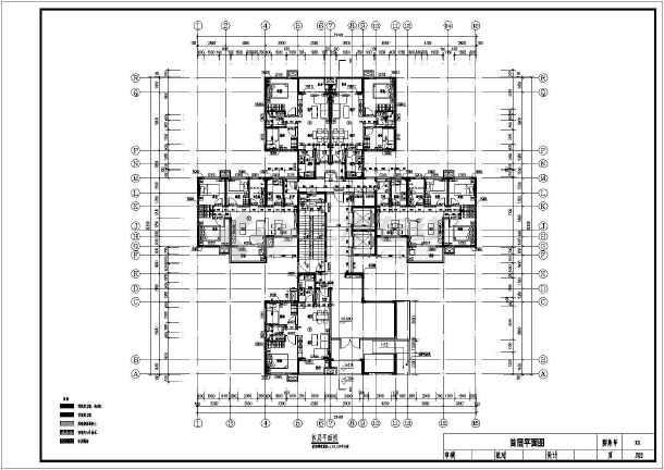 27层装配式高层住宅建筑施工面图-图一