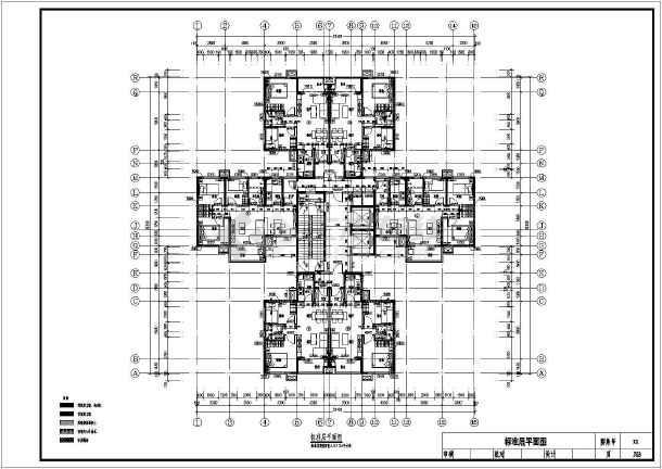 27层装配式高层住宅建筑施工面图-图二