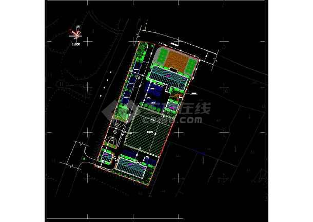 某乡镇卫生院规划设计总平面图-图一