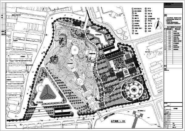 陵园景观设计成套总图-图一