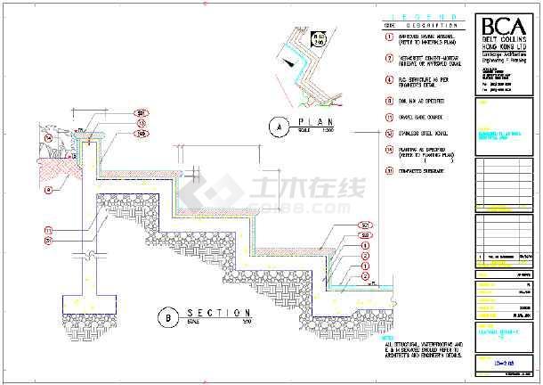 广州小区主要景观设计施工图-图一