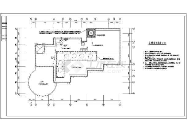 幼儿园电气设计cad平面图,共11张-图一