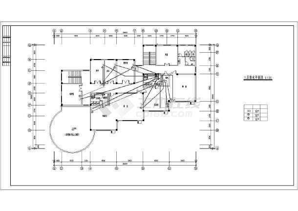 幼儿园电气设计cad平面图,共11张-图二
