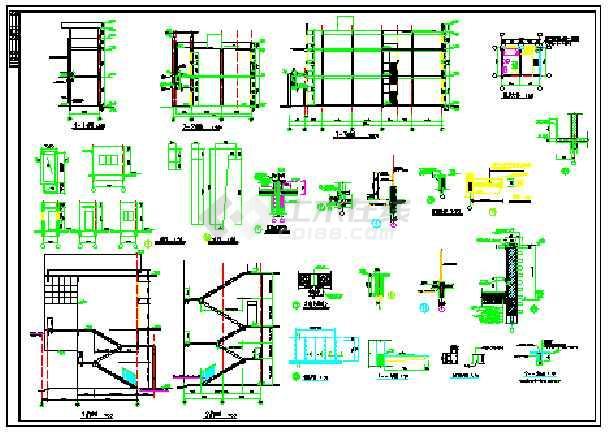 步行街三层沿街商业楼建筑施工图-图二