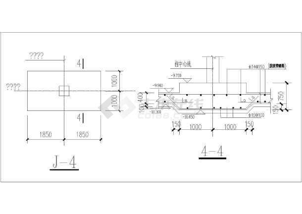 点击查看[节点详图]成都某住宅小区基础、后浇带及底板详图第2张大图