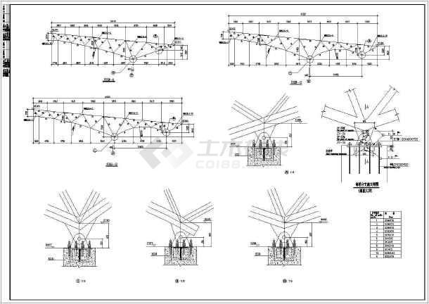 点击查看[节点详图]某桁架结构设计cad详图第2张大图