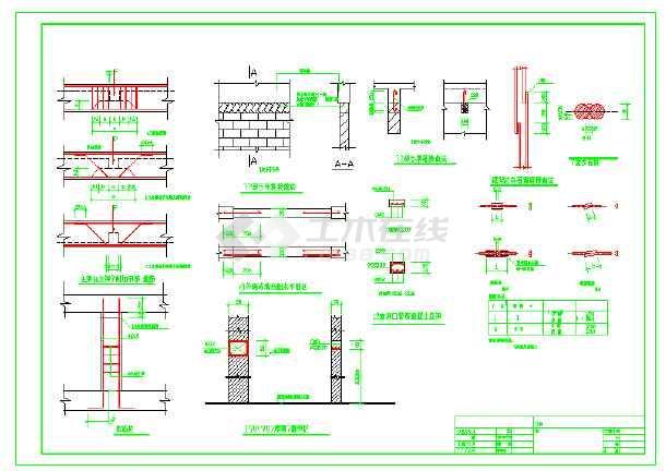 [节点详图]沉管灌注桩结构设计cad详图-图二