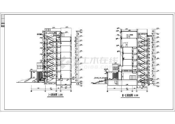 点击查看多层办公楼建筑施工图纸(包含5套图纸)第1张大图