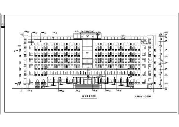 点击查看多层办公楼建筑施工图纸(包含5套图纸)第2张大图
