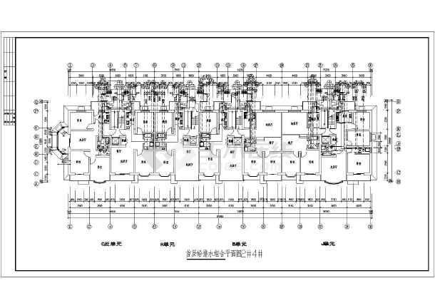 某住宅楼一层给排水设计图纸-图二