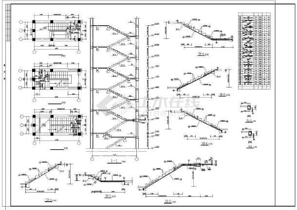 点击查看六层住宅楼建筑施工图纸(包含5套图纸)第2张大图