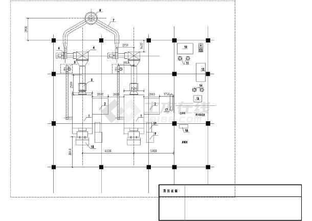 燃煤锅炉房设计cad图,含设计说明-图一