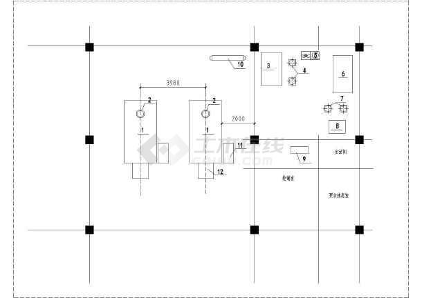 燃煤锅炉房设计cad图,含设计说明-图二