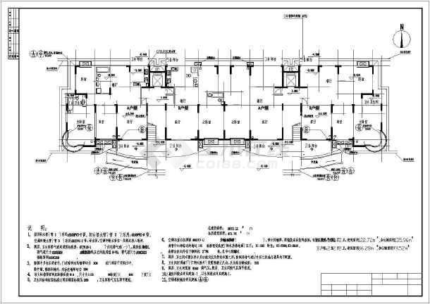点击查看十层住宅楼建筑施工图纸(包含5套图纸)第2张大图
