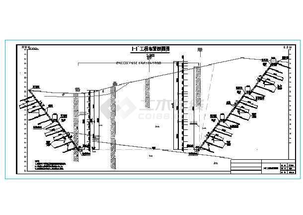 某工程30m高边坡支护全套施工图-图一