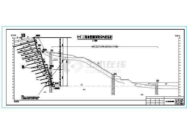 某工程30m高边坡支护全套施工图-图二