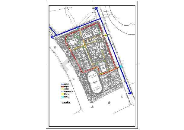 点击查看南方某中学规划设计总平面图第2张大图