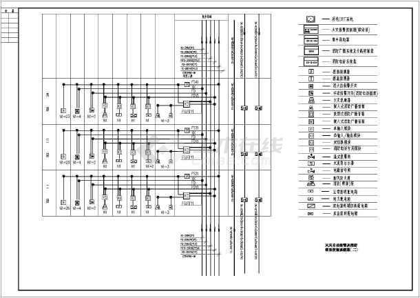 高层办公楼消防系统设计cad图-图二
