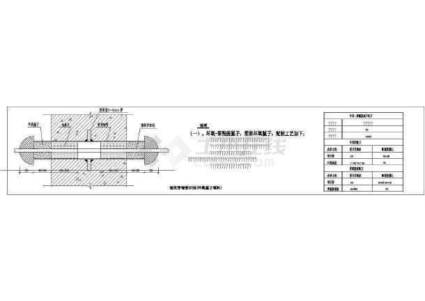 点击查看电气工程明管穿墙与电缆穿管大样图第1张大图