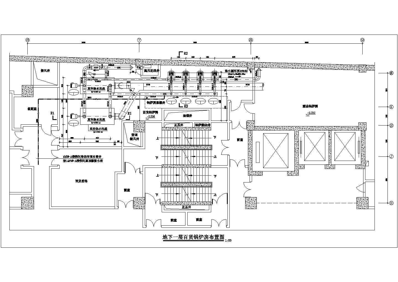 成都某百货商场制冷机房设计图图片3