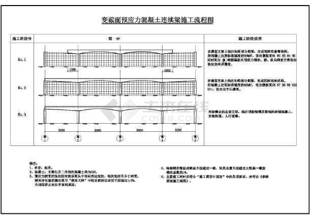 桥梁施工方案CAD图-图一