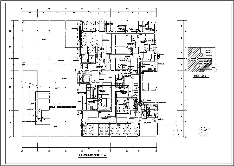 某地下室通风消防设计cad平面图图片2