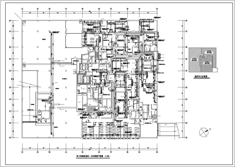 某地下室通风消防设计cad平面图图片3