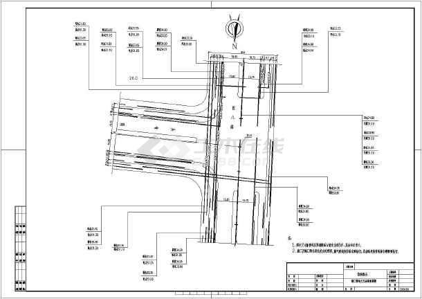 山东某市市政道路管线综合图-图一