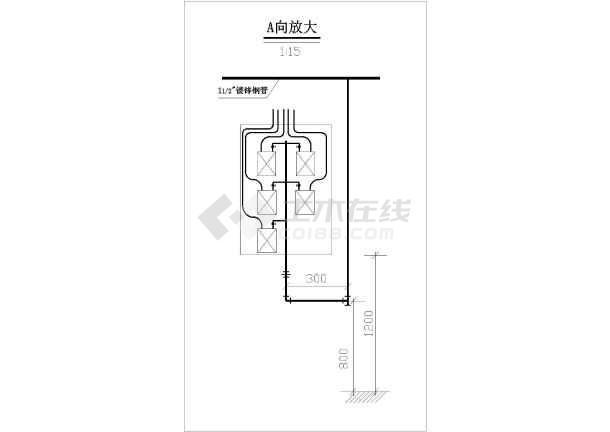 某小区天然气管网布置设计图,含设计说明-图一