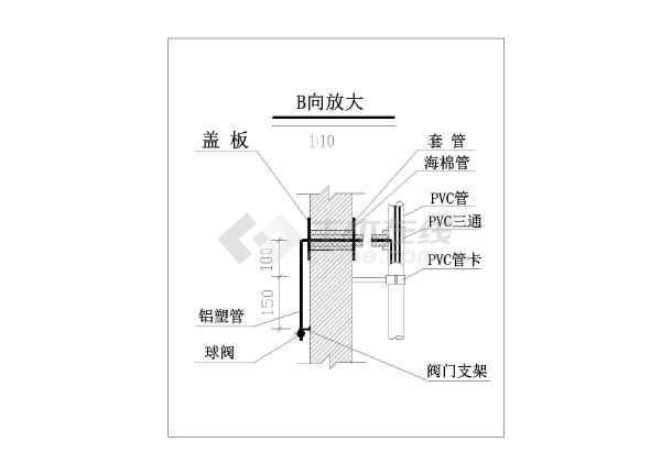 某小区天然气管网布置设计图,含设计说明-图二