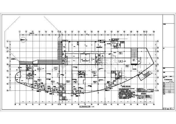 裙房给排水设计施工图-图二