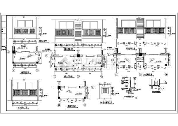 多层框架结构住宅楼建筑图纸(含5套图纸)-图一