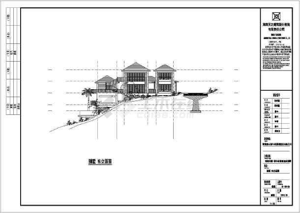 度假酒店建筑施工图(包含5套资料打包)霸州酒店建筑面积17078㎡、海南酒店建筑面积476㎡-图二