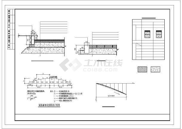 市政道路路面结构及缘石大样图CAD-图一
