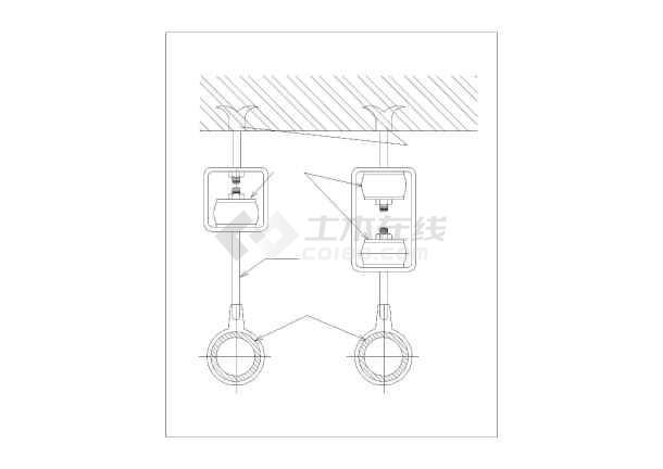 管道安装及管件大样设计cad图-图二