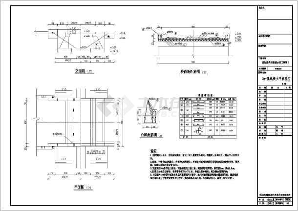 点击查看高标准农田建设示范工程设计CAD节点详图(水闸 过水涵洞等)第1张大图