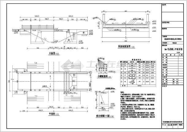 点击查看高标准农田建设示范工程设计CAD节点详图(水闸 过水涵洞等)第2张大图