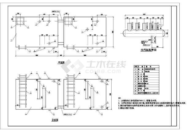 某蒸汽锅炉房设计cad平面图,含设计说明-图二
