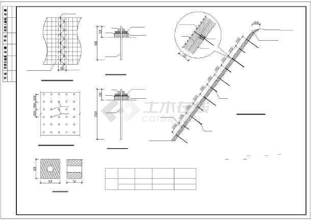 点击查看市政道路有机基材护坡大样图CAD第1张大图