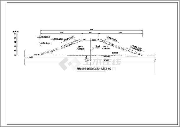 水库大坝防渗加固工程施工方案(2014年含CAD图)-图一