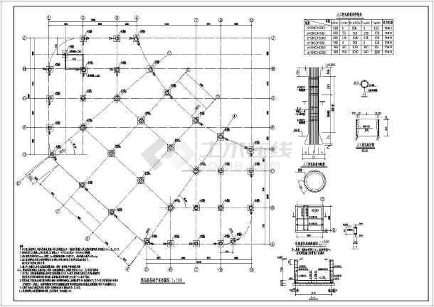 点击查看吉林某地框架结构住宅楼结构图(人工挖孔桩)第1张大图