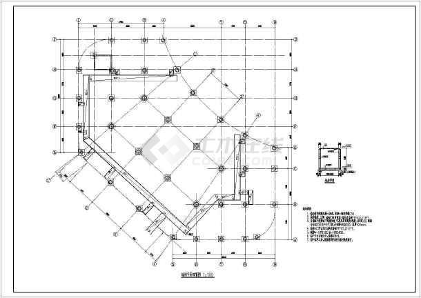 点击查看吉林某地框架结构住宅楼结构图(人工挖孔桩)第2张大图