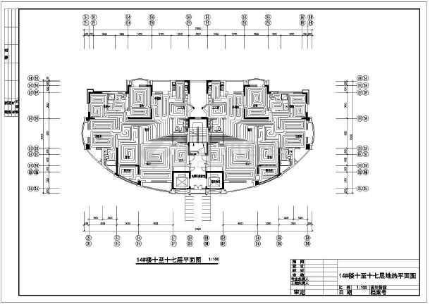 点击查看住宅小区地热设计cad平面图,含设计说明第2张大图