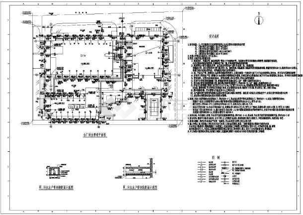 点击查看某厂区室外综合管线规划设计图,含说明第2张大图