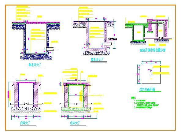 某小区给排水设计cad详图图片3
